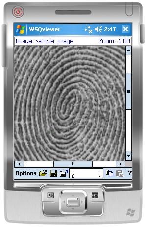 Cognaxon - Free WSQ Viewer for Windows Mobile/Windows CE